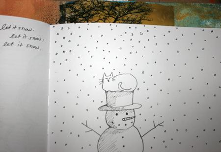Sketchbookswapsnowman