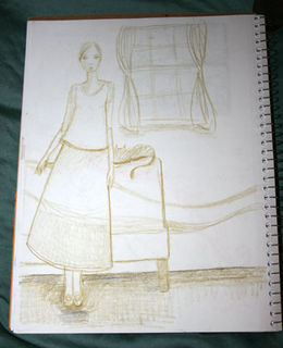 Sketchbookwomanwindow