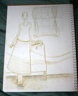 Sketchbookwomanwindow
