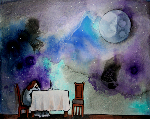 If the moon came to dinner